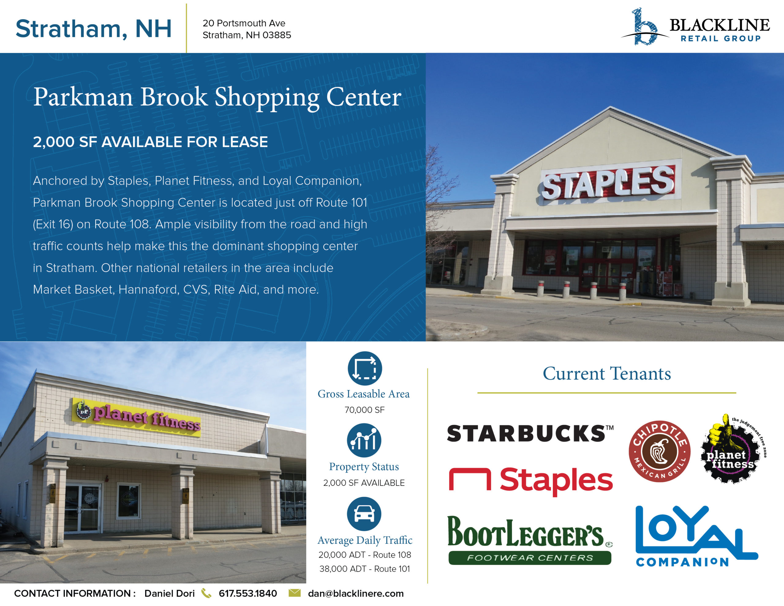 Stratham, Nh Parkman Brook Shopping Center